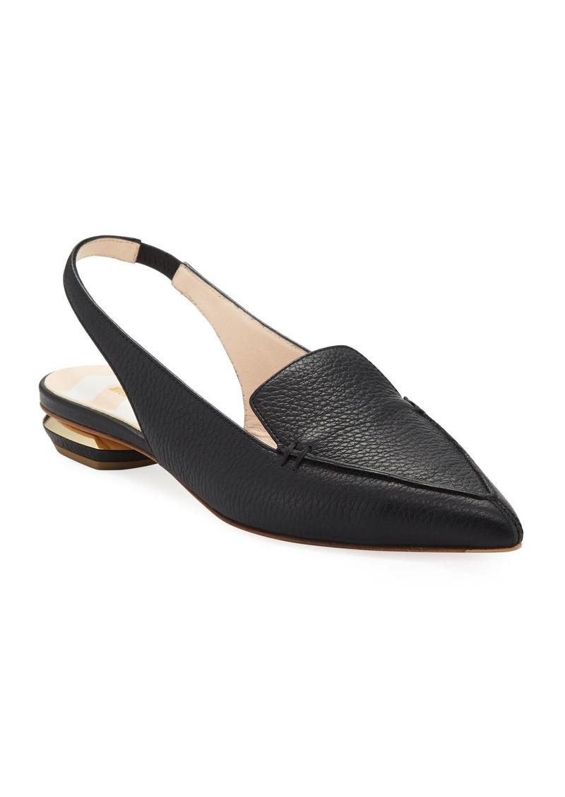 Nicholas Kirkwood Beya Leather Slingback Loafer Flats
