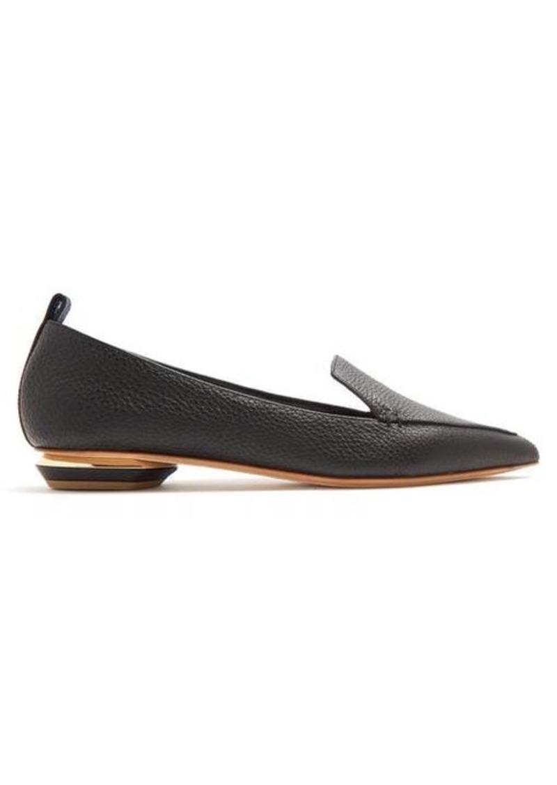 Nicholas Kirkwood Beya point-toe grained-leather loafers