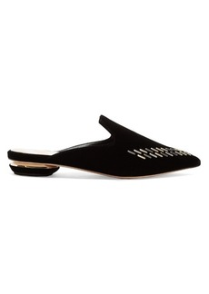 Nicholas Kirkwood Beya velvet backless loafers