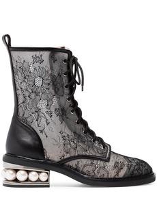 Nicholas Kirkwood Black Casati 35 Lace Combat Boots