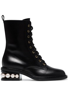 Nicholas Kirkwood Black Casati Pearl 35 lace up boots