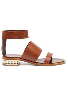 Nicholas Kirkwood Casati faux-pearl heel leather sandals