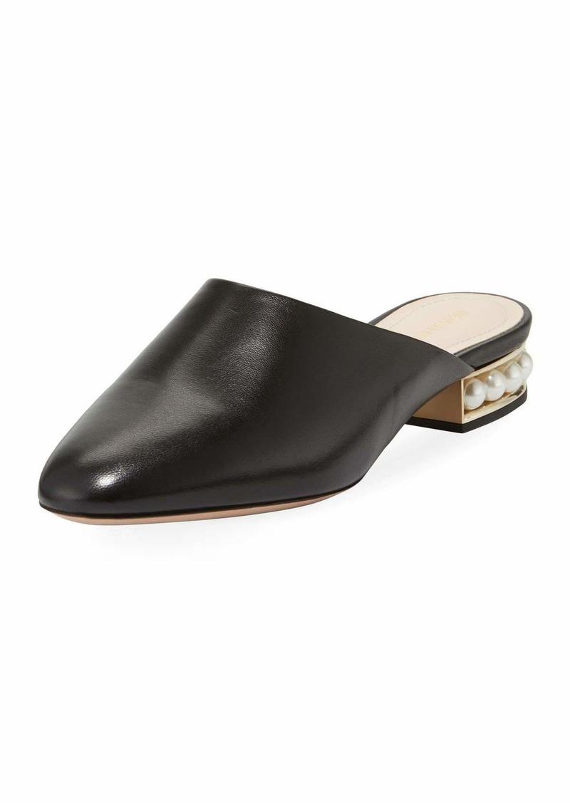 b0057b8e8d9b Nicholas Kirkwood Nicholas Kirkwood Casati Leather Pearl-Heel Mule ...