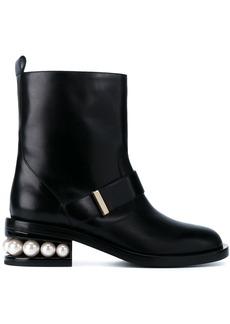 Nicholas Kirkwood Casati Pearl 35 biker boots - Black