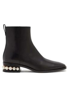 Nicholas Kirkwood Casati pearl-heel leather ankle boots