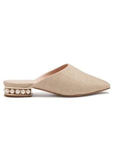 Nicholas Kirkwood Casati pearl-heeled backless loafers