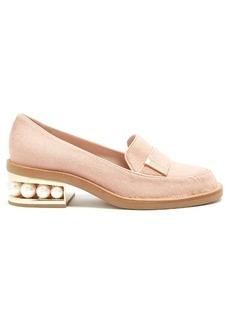 Nicholas Kirkwood Casati pearl-heeled calf-hair loafers