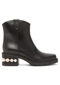 Nicholas Kirkwood Casati pearl-heeled leather boots