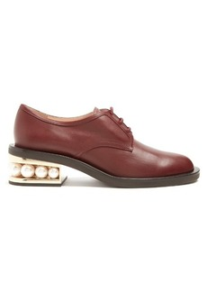 Nicholas Kirkwood Casati pearl-heeled leather derby shoes