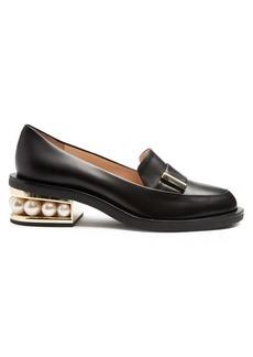 Nicholas Kirkwood Casati pearl-heeled leather loafer