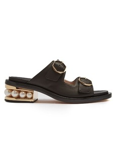 Nicholas Kirkwood Casati pearl-heeled leather sandals