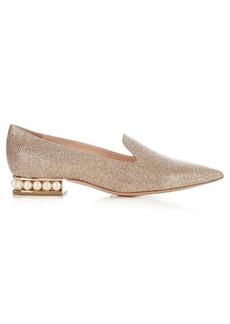 Nicholas Kirkwood Casati pearl-heeled lurex pumps