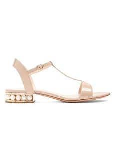 Nicholas Kirkwood Casati pearl-heeled patent-leather sandals