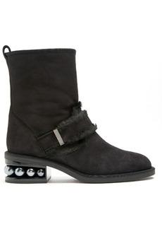 Nicholas Kirkwood Casati pearl-heeled suede ankle boots