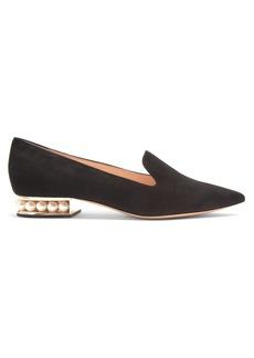 Nicholas Kirkwood Casati pearl-heeled suede loafers