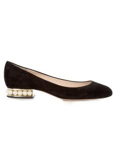 Nicholas Kirkwood Casati pearl-heeled suede pumps