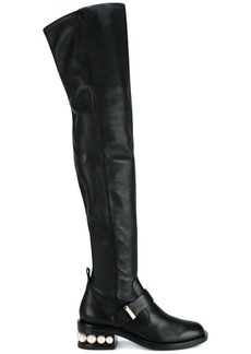 Nicholas Kirkwood Black Casati Pearl Thigh boots