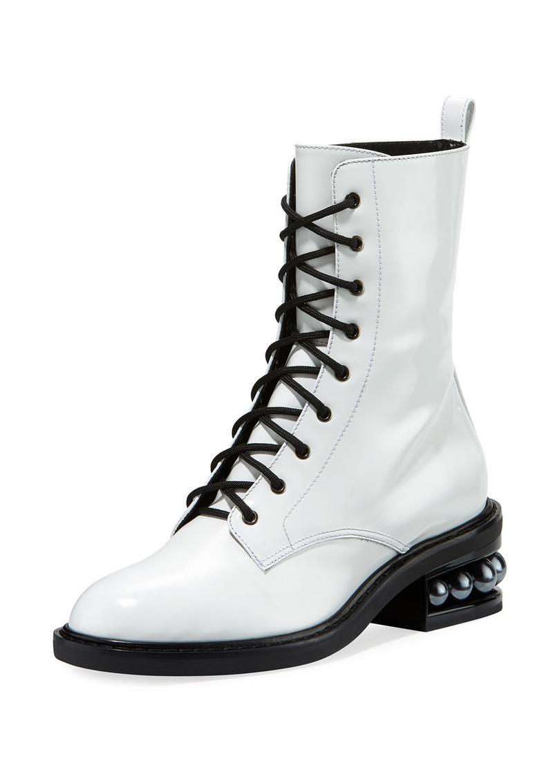 Nicholas Kirkwood Casati Pearly Combat Boot