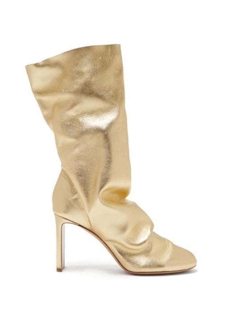 Nicholas Kirkwood D'Arcy metallic-leather boots