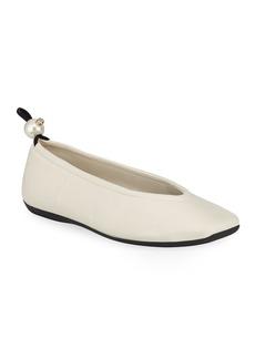 Nicholas Kirkwood Delfi Leather Ballerina Flats