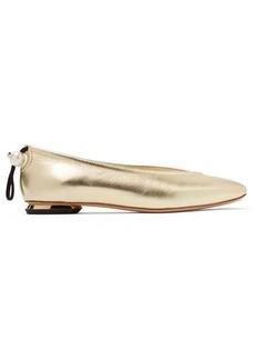 Nicholas Kirkwood Delfi pearl-toggle leather ballet flats