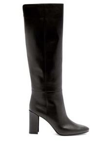 Nicholas Kirkwood Elements mirror-heel leather knee-high boots