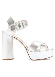 Nicholas Kirkwood Essential metallic leather platform sandals
