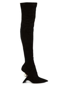 Nicholas Kirkwood Jazelle over-the-knee suede boots