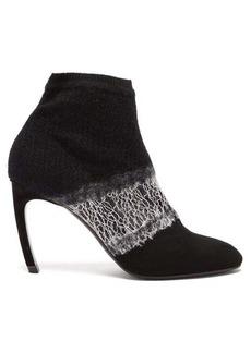 Nicholas Kirkwood Kim deconstructed wool ankle boots
