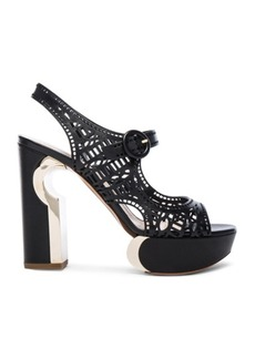 Nicholas Kirkwood Leather Mary Jane Eyelet Heels