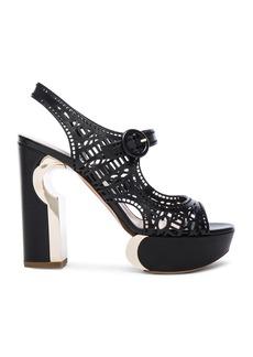 Nicholas Kirkwood Leather Mary Jane Eyelet Heels