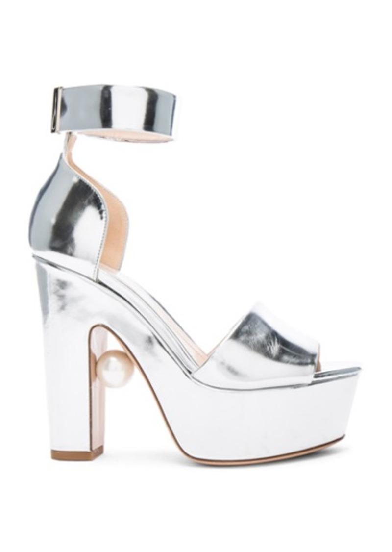 Nicholas Kirkwood Leather Maya Pearl Heels