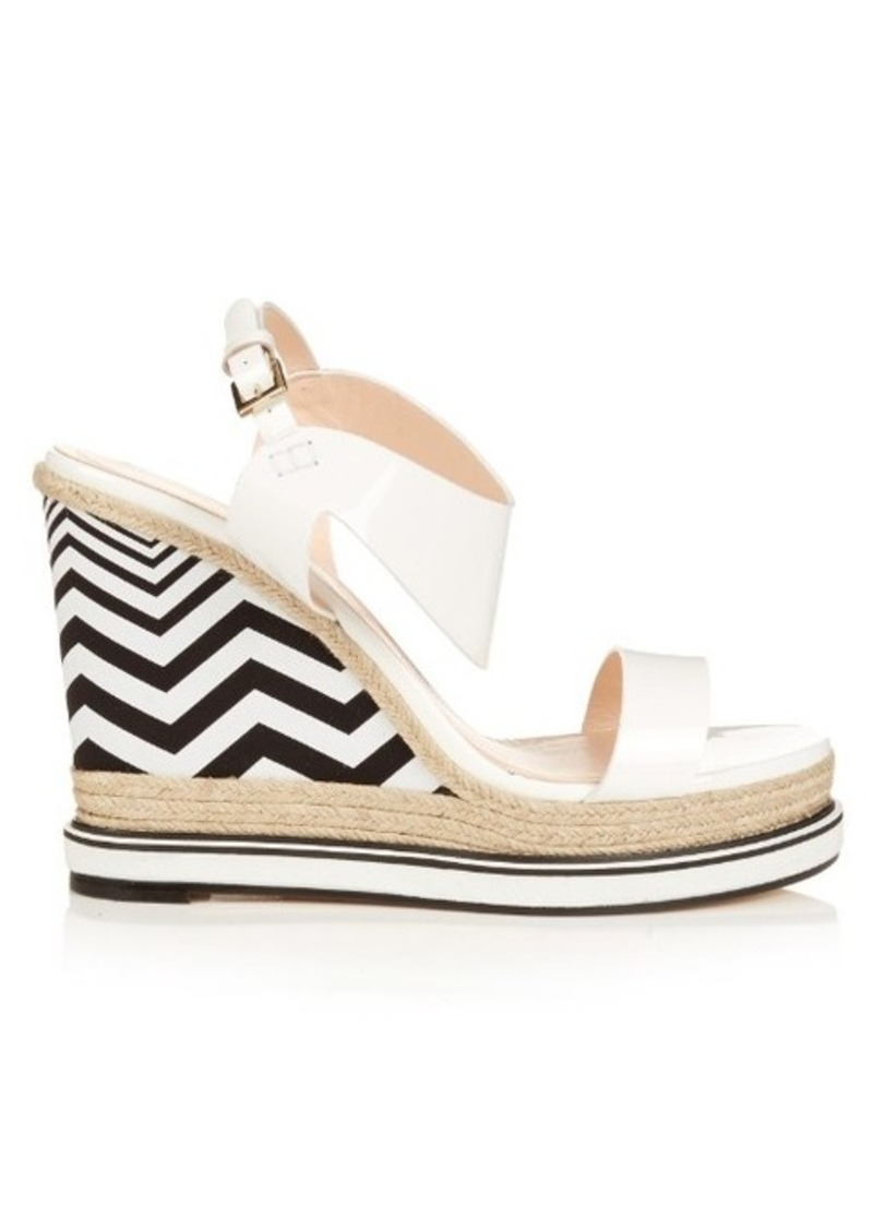 Nicholas Kirkwood Leda patent-leather and espadrille wedge sandals