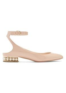Nicholas Kirkwood Lola pearl-heeled patent-leather ballet flats