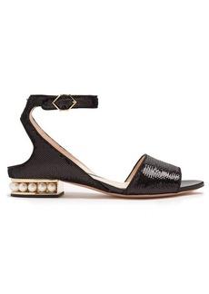 Nicholas Kirkwood Lola pearl-heeled sequin-embellished sandals
