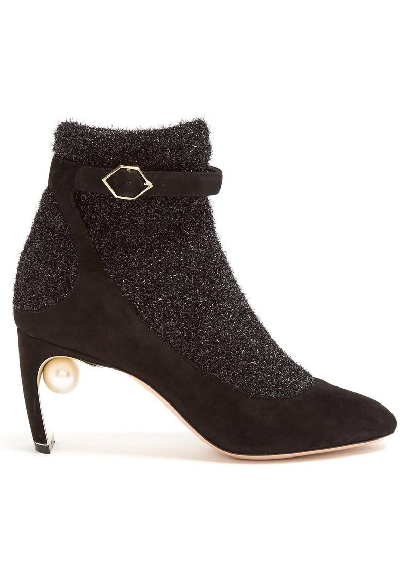 Nicholas Kirkwood Nicholas Kirkwood Lola pearl-heeled tinsel and ... 4284e97a9b0ff