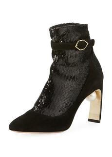 Nicholas Kirkwood Lola Sequined Sock Pumps-Illusion Ankle Boot