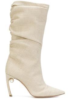 Nicholas Kirkwood Mira pearl boots - Nude & Neutrals