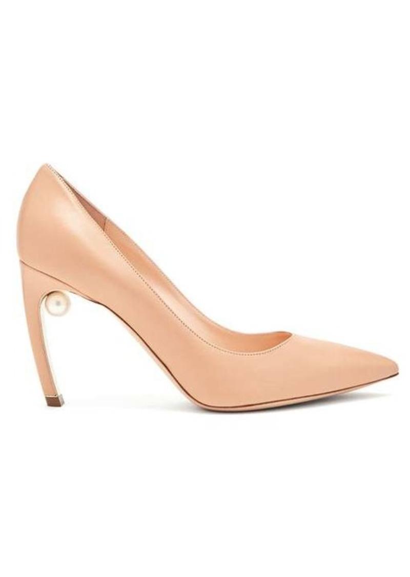8e776f1f999 Mira pearl-heel leather pumps