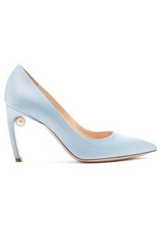 Nicholas Kirkwood Mira pearl-heeled faille pumps