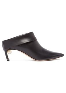 Nicholas Kirkwood Mira pearl-heeled leather mules