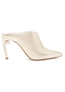 Nicholas Kirkwood Mira pearl-heeled mules