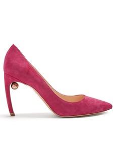 Nicholas Kirkwood Mira pearl-heeled suede pumps