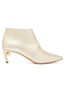 Nicholas Kirkwood Mira point-toe leather ankle boots
