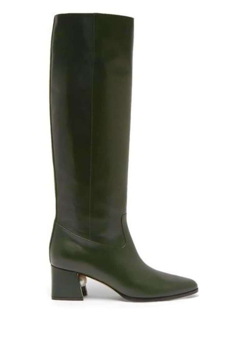 Nicholas Kirkwood Miri faux pearl-embellished leather knee boots