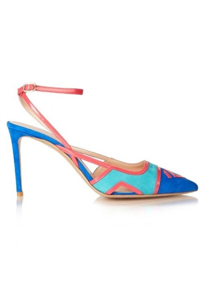 Nicholas Kirkwood Outliner ankle-strap suede pumps