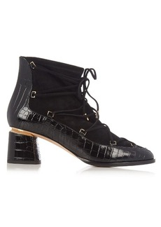 Nicholas Kirkwood Outliner suede and leather ankle boots