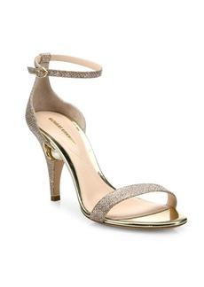 Nicholas Kirkwood Penelope Pearly Metallic Ankle-Strap Sandals