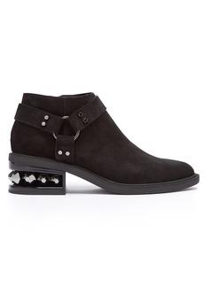 Nicholas Kirkwood Suzi crystal-heeled suede ankle boots