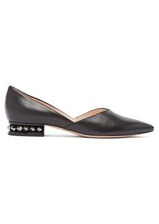 Nicholas Kirkwood Suzi embellished-heel leather flats
